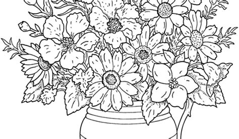 printable coloring pages for adults flowers az coloring