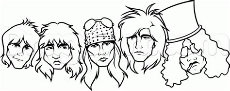 guns and roses coloring page step 9 how to draw guns n roses