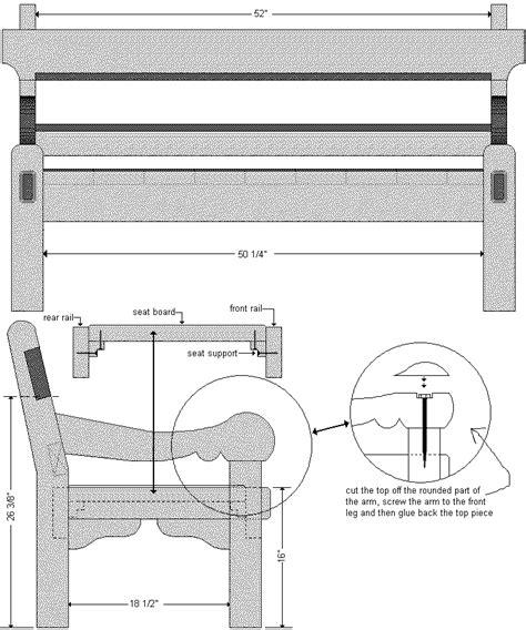 park bench blueprints woodwork plans park bench pdf plans