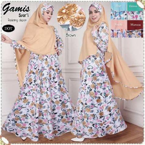 Harga Gamis harga baju gamis modern edisi maret 2017 2018 butik gamis cantik