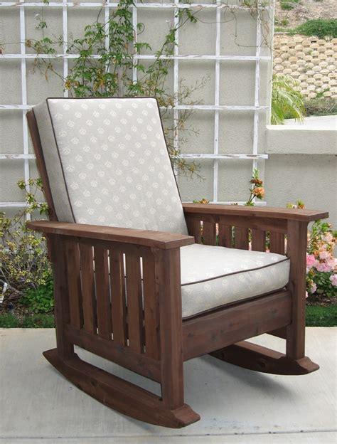 california craftsman wooden rocking chair dark walnut