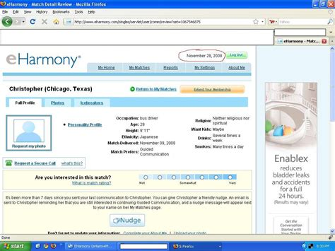 E Harmony Search Show Me My Matches From Eharmony