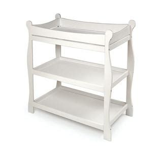White Sleigh Changing Table Badger Basket 02211 Sleigh Style Changing Table White