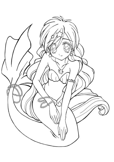 anime mermaid tins coloring sheets coloring pages