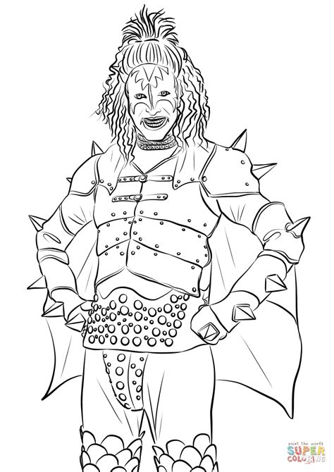 rock coloring book gene simmons from band coloring page free printable