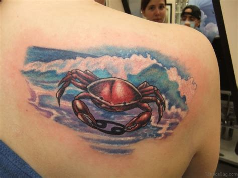 cancer crab tattoo 36 superb crab tattoos on back