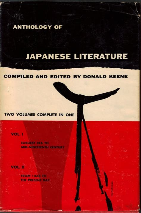 Compiled And Edited By Donald Keene Anthology Of Japanese Literature anthology of japanese literature 2 volumes bound together donald keene hardcover grove press