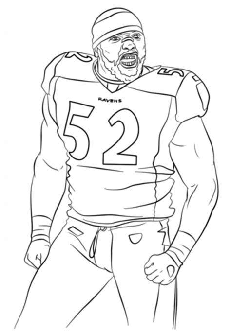 coloring pages of nfl players ray lewis nfl famous atheletes coloring page sports