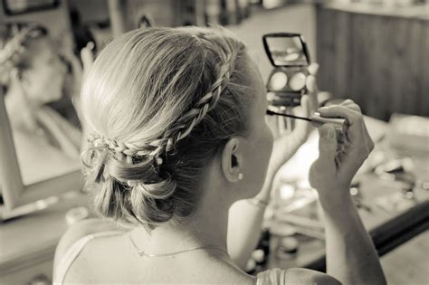 Wedding Hair Up With Plaits by Bridesmaid Hair With Plait