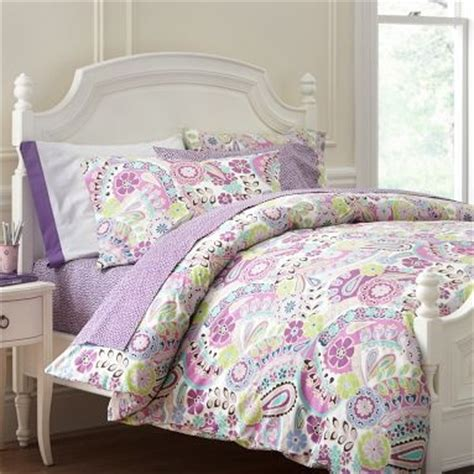 purple teen bedding purple paisley bedding from pb teen lily big girl room