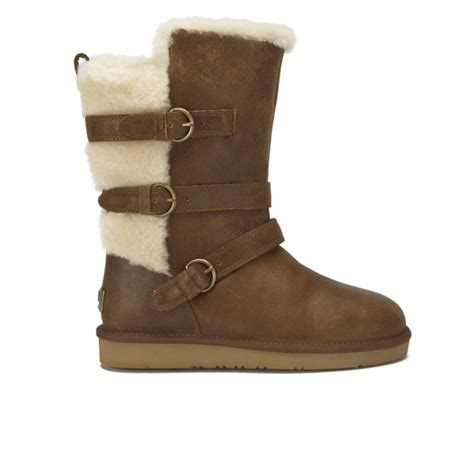 ugg s becket waterproof leather buckle boots