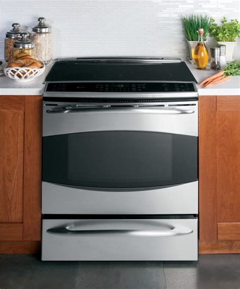 electric induction slide in range ge profile slide in induction range gas ranges and electric ranges other metro by