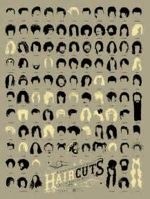 what are the names those designs in haircut infographic of the day 108 of the best haircuts in music history co design business design