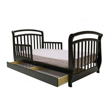 toddler bed with drawers dream on me deluxe sleigh toddler bed with drawer with