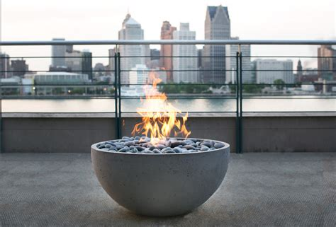 Modern Firepits Serenade Concrete Firepit By Dekko Concrete Modern Pits Other Metro By Dekko
