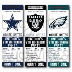 football ticket template football ticket stub digital invitation any team