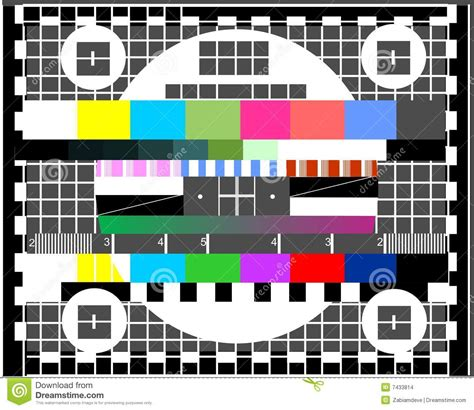 tv test pattern vector television test screen stock vector illustration of