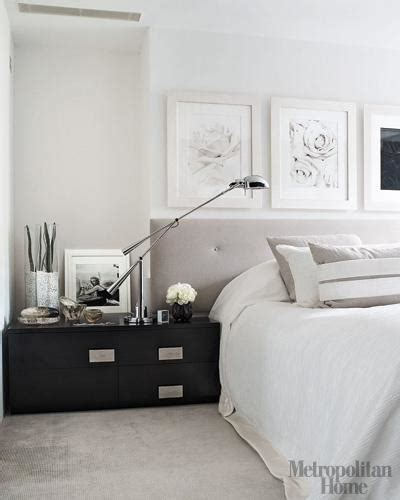 elle decor bedroom black lacquered bedside table contemporary bedroom