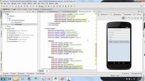 android studio gui tutorial 26 android sqlite tutorial calling crud operations from
