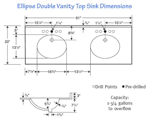 double vanity dimensions counter dimensions google search studio