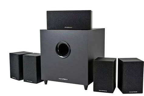 monoprice home theater system with subwoofer deal 25