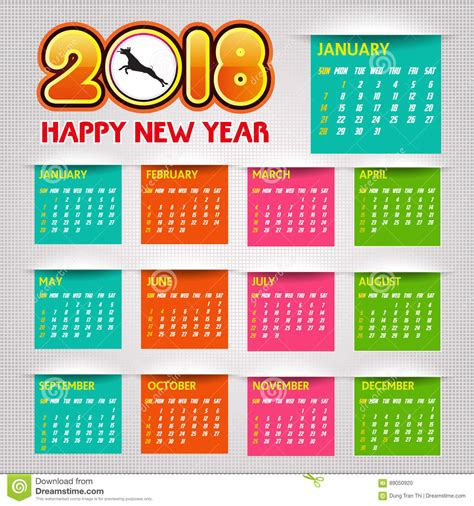 calendar  happy  year vector illustration stock vector illustration   people