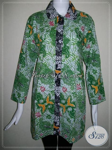678 Kain Batik Kode Bps batik motif abstrak untuk busana batik wanita warna hijau segar bls678cb baju batik modern