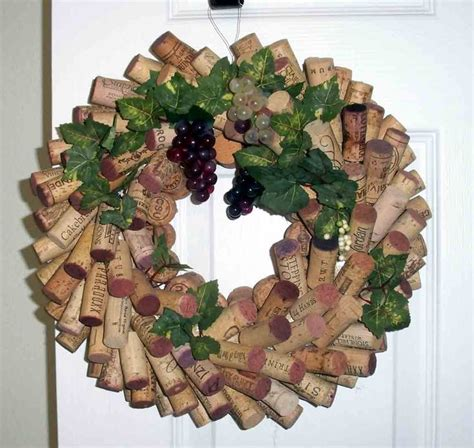 in july wine country wine cork wreath cork wreath and wine cork wreath