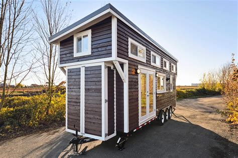 large tiny house tiny house on wheels w big kitchen and double sink vanity