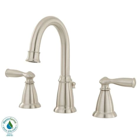 moen kitchen faucets at home depot moen banbury 8 in widespread 2 handle high arc bathroom faucet in spot resist brushed nickel