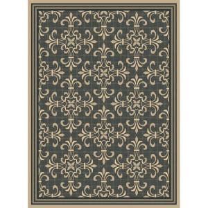 outdoor area rugs home depot hton bay williamson black java 5 ft 3 in x 7 ft 4 in