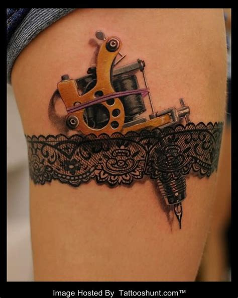 lace garter tattoo garter and lace 3d machine tattooshunt