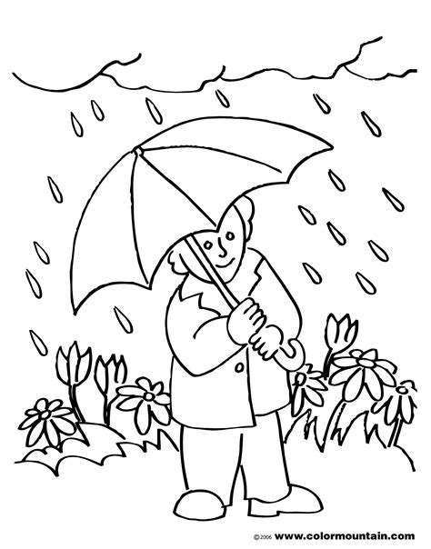 rainy day coloring pages rainy weather clipart black and white clipartsgram