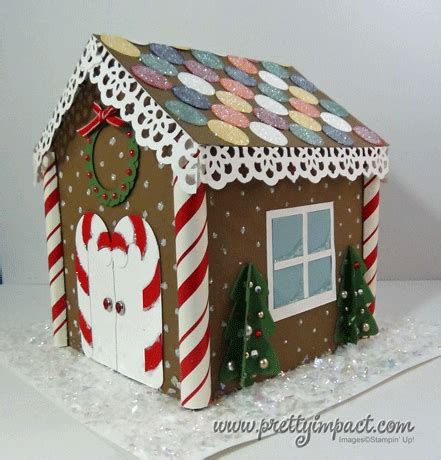 Gingerbread House Paper Craft - paper gingerbread house