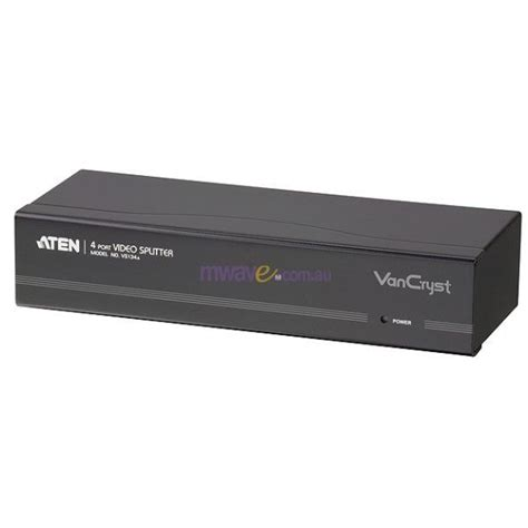 Vga Splitter 4 Port Aten Aten Vs134a 4 Port Vga Splitter 450mhz Vs134a Mwave