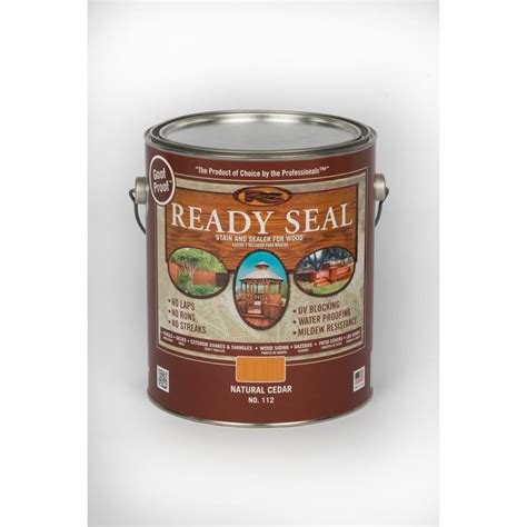 ready seal  gal natural cedar exterior wood stain
