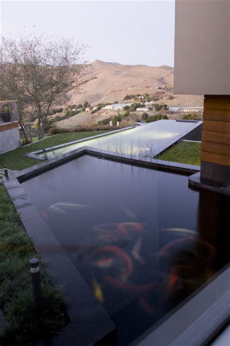 koi pond contemporary pool
