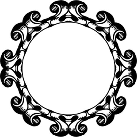 Clip Bulat 589 bingkai hias clipart gratis domain publik vektor