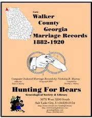 Walker County Ga Marriage Records Heritage Open Library