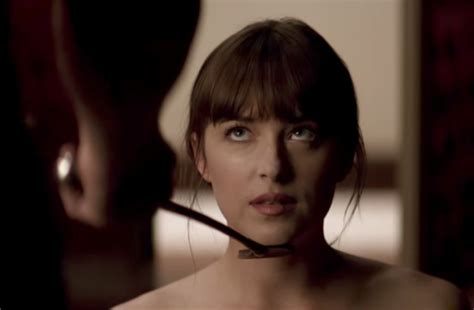 fifty shades of grey first full scene released fifty fifty shades freed trailer things get darker soapier