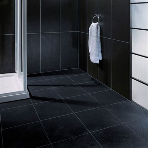 Black Bathroom Floor Tiles Black Ceramic Tile Bathroom Halflifetr Info