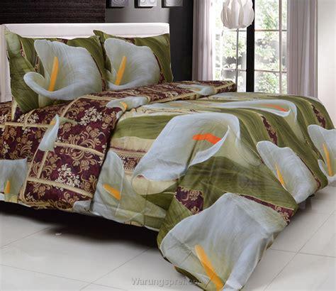 Set Bed Cover Katun Motif Bunga sprei katun jepang bunga yuri warungsprei