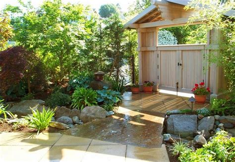 Japanese Garden Designs For Small Spaces With Unique Wood Japanese Garden Design Ideas For Small Gardens