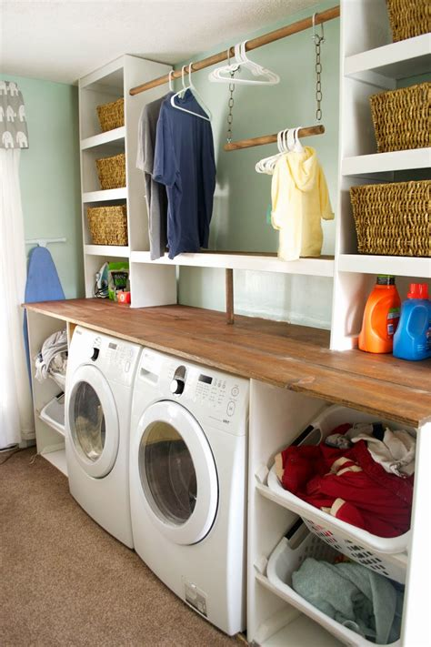 Remodelaholic Built In Laundry Unit With Shelving Built In Wall Laundry