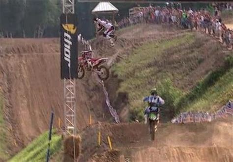 chad reed survives high flying motocross crash finishes