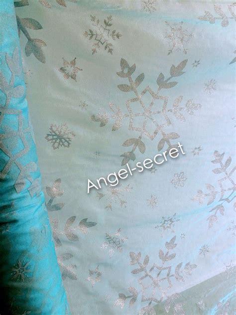 printable organza fabric mat2 silver big snowflake print blue organza fabric frozen