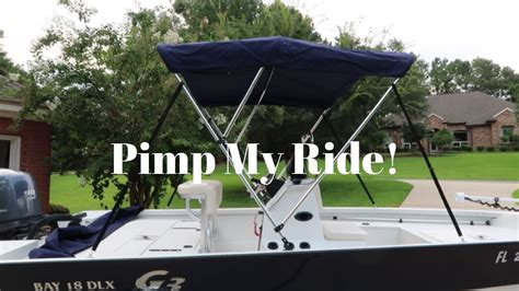 bimini top on bay boat new bimini top for boat g3 bay 18 dlx youtube