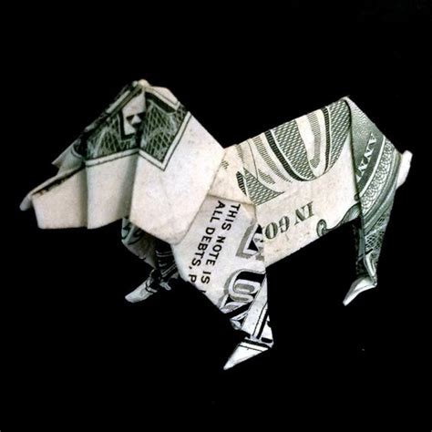 Origami Out Of A Dollar - gift money origami made out of real one dollar