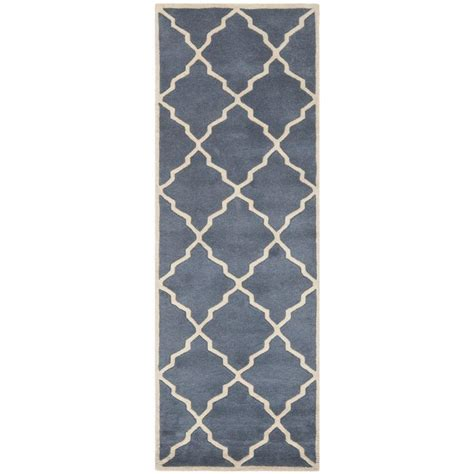 safavieh leather shag saddle 2 ft 3 in x 11 ft rug