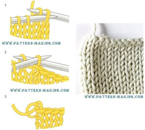 casting off in pattern knitting casting off pattern making com